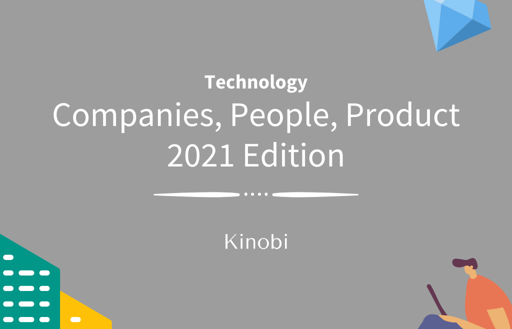 Companies, people, product in technology header